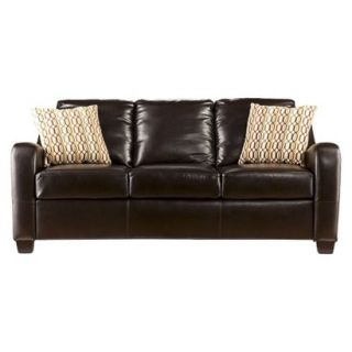 Sofa Southern Enterprises Montfort Stationary Sofa   Chocolate