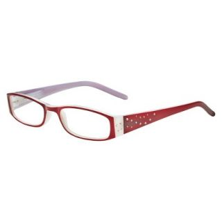 ICU Crystal Rectangle Rhinestone Reading Glasses With Sparkle Case   +3.00