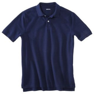 Mens Classic Fit Polo Shirt Navy Blue Vyg MT