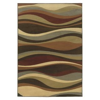 Contemporary Waves Area Rug   Brown (710x10)