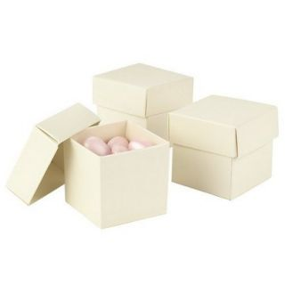 Ivory Mix & Match Favor Boxes   25ct