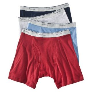 Fruit of the Loom Mens Boxer Briefs 4 Pack   Assorted Colors XXL