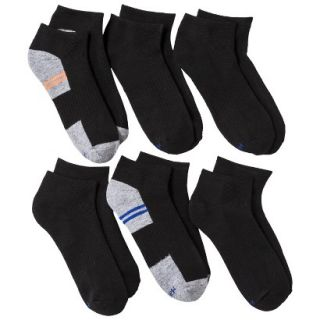 Hanes Boys 6 Pack Ankle Socks   Black S