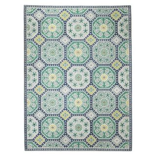 Threshold Indoor/Outdoor Mosaic Area Rug   Blue/Green (7x10)