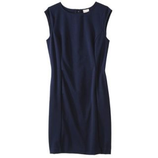 Merona Petites Sleeveless Ponte Sheath Dress   Navy Blue XXLP