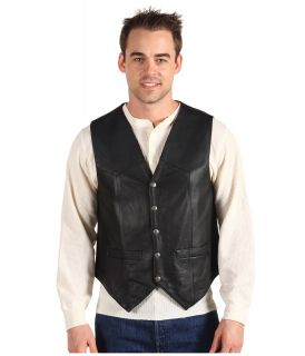 Scully Leather Vest Mens Jacket (Black)