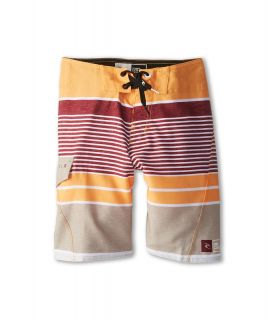Rip Curl Kids Livin Stripe Boardshort Boys Swimwear (Orange)