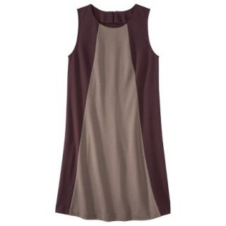 Mossimo Womens Colorblock Shift Dress   Berry/Timber L