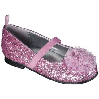Toddler Girls Genuine Kids from OshKosh Glitter Ballet Flats   Pink 9