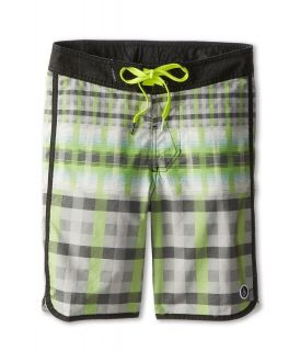 Volcom Kids Scallaid Boardshort Boys Swimwear (Black)