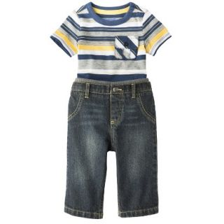 Genuine Kids from OshKosh Newborn Boys 2 Piece Set   Blue 6 9 M
