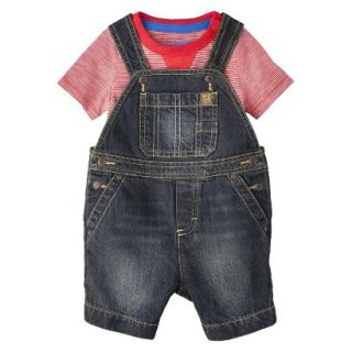 Genuine Kids from OshKosh Newborn Boys Denim Shortall and Bodysuit Set