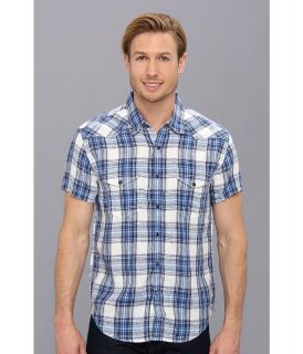 Lucky Brand Lyons Linen Western Shirt Mens Short Sleeve Button Up (Multi)