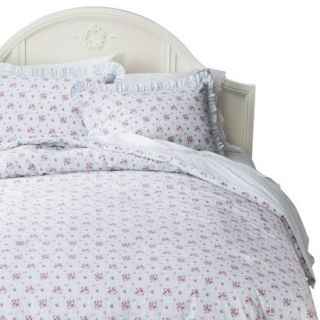 Simply Shabby Chic Window Box Floral Comforter Set   Blue (King)