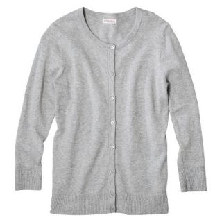 Merona Womens Ultimate 3/4 Sleeve Crew Neck Cardigan   Grey   S