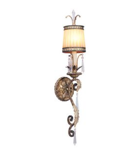La Bella 1 Light Wall Sconces in Vintage Gold Leaf 8811 65