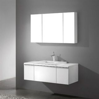Madeli Venasca 48 Bathroom Vanity with Quartzstone Top   Glossy White