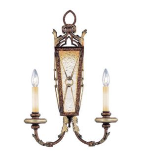 Bristol Manor 2 Light Wall Sconces in Palacial Bronze With Gilded Accents 8822 64