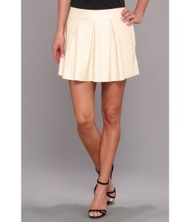 C&C California Pearlized Faux Leather Mini Skirt Womens Skirt (White)