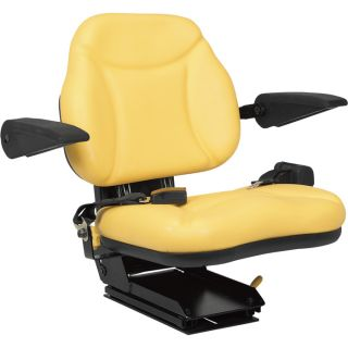 A & I Products Big Boy Suspension Tractor Seat   Yellow, Model BBS108YL
