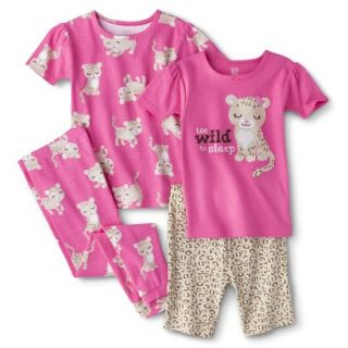 Just One You Made by Carters Infant Toddler Girls 4 Piece Leopard Pajama Set