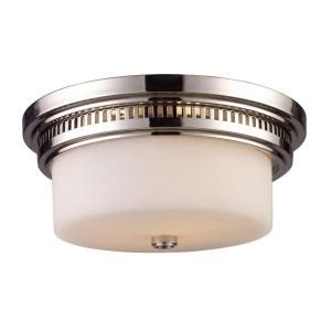 Titan Lighting 2 Light Ceiling Mount Polished Nickel Flush Mount TN 10040
