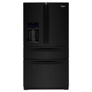 Whirlpool 28.1 cu. ft. French Door Refrigerator in Black WRX988SIBB