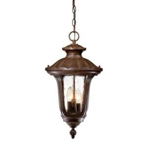 Acclaim Lighting Augusta Collection Hanging Lantern 3 Light Outdoor Burled Walnut Light Fixture 3866BW