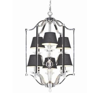Hampton Bay Elora Collection 6 Light Chrome Pendant 20294 021