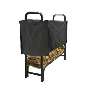 Pleasant Hearth 4 ft. Heavy Duty Firewood Rack with Half Cover LS938 48SC