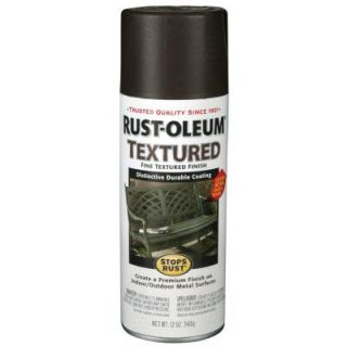 Rust Oleum Stops Rust 12 oz. Protective Enamel Textured Black Spray Paint 7220830