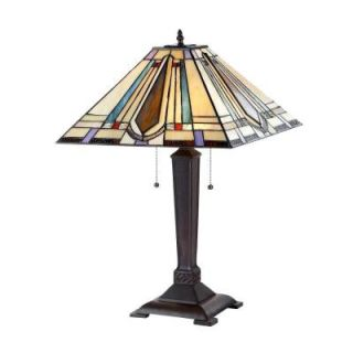 Chloe Lighting Devon 24 in. Tiffany Style Mission Bronze Table Lamp CH33289MA16 TL2