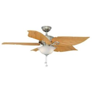 Hampton Bay Costa Mesa 56 in. Brushed Nickel Ceiling Fan 51655