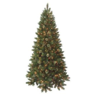 National Tree Company 9 ft. Deluxe Cashmere with Ready Lit Clear Lights RMP7 300E 90