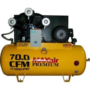 Maxair Premium Industrial 120 Gal. 15 HP Electric 575 Volt Single Stage 3 Phase Air Compressor C155120H1 CS575 MAP