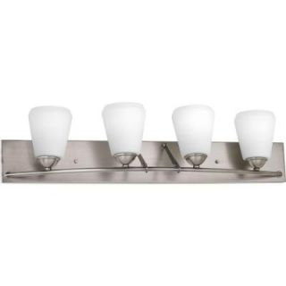 Progress Lighting Moments Collection 4 Light Antique Nickel Bath Light P2829 81