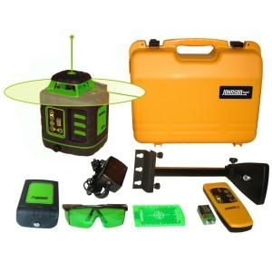 Johnson Self Leveling Rotary Laser Level with GreenBrite Technology 40 6543