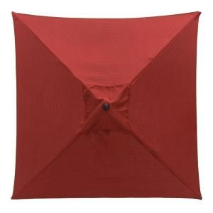 Hampton Bay 6 ft. Patio Umbrella in Chili Solid 9606 01002600