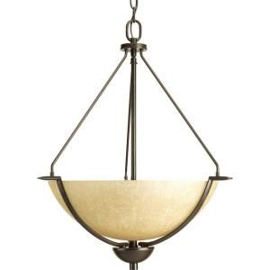 Progress Lighting Bravo Collection 3 Light Antique Bronze Foyer Pendant P3912 20