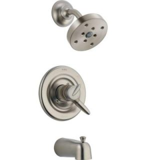 Delta Grail 1 Handle 1 Spray Tub and Shower Faucet Trim Kit in Chrome with H2Okinetic (Valve Not Included) T17485 SSH2O