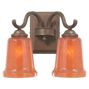 Hampton Bay Aspen 2 Light Heritage Bronze Wall Sconce 14809