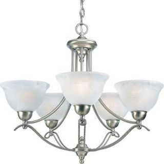 Progress Lighting Avalon Collection 5 Light Brushed Nickel Chandelier P4068 09