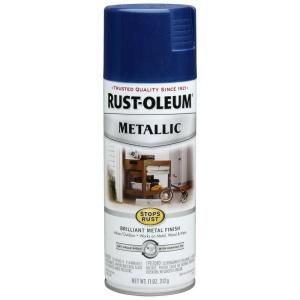 Rust Oleum Stops Rust 11 oz. Protective Enamel Metallic Cobalt Blue Spray Paint 7251830