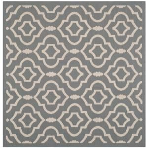 Safavieh Courtyard Anthracite/Beige 5.3 ft. x 5.3 ft. Square Area Rug CY6926 246 5SQ