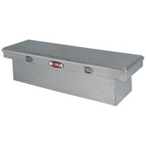 Delta 70 in. Aluminum Single Lid Deep Full Size Crossover Tool Box in Bright 1 301000