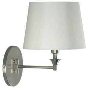 Kenroy Home Martin 1  Light Brushed Steel Wall Swing Arm Lamp 32180BS