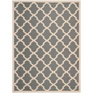 Safavieh Courtyard Anthracite/Beige 9 ft. x 12 ft. Area Rug CY6903 246 9