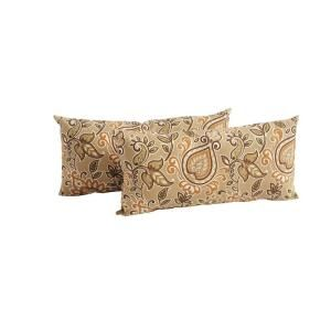 Hampton Bay Pine Valley Outdoor Lumbar Pillow (2 Pack) S2 ZZF03499