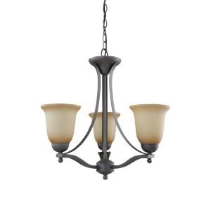 Commercial Electric 3 Light Rustic Iron Chandelier ESS8113 3