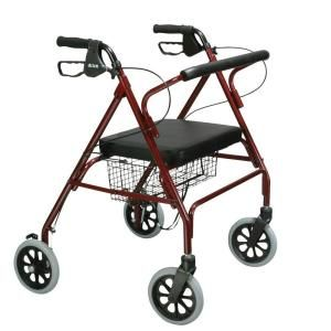 Drive Medical Heavy Duty Bariatric Rollator Walker with Large Padded Seat 10215RD 1
